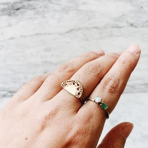 Handmade rings, set of 2